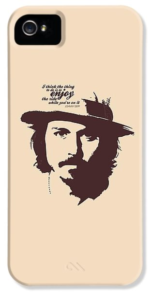Johnny Depp Minimalist Poster IPhone 5 / 5s Case by Lab No 4 - The Quotography Department