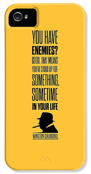 Winston Churchill Inspirational Quotes Poster IPhone 5 Case