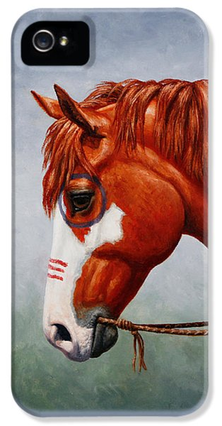 Native American War Horse IPhone 5 Case by Crista Forest