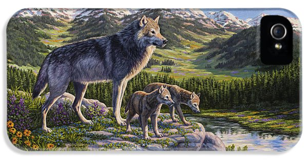 Wolf Painting - Passing It On IPhone 5 / 5s Case by Crista Forest