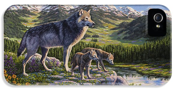 Wolf Painting - Passing It On IPhone 5 Case by Crista Forest