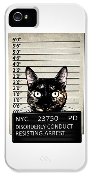 Kitty Mugshot IPhone 5 Case by Nicklas Gustafsson
