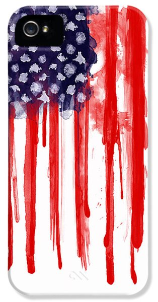 Landmarks iPhone 5 Case - American Spatter Flag by Nicklas Gustafsson