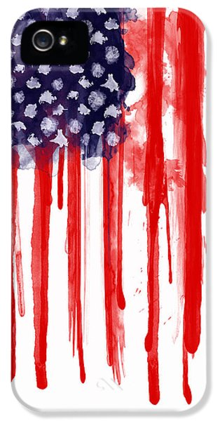 American Spatter Flag IPhone 5 Case by Nicklas Gustafsson