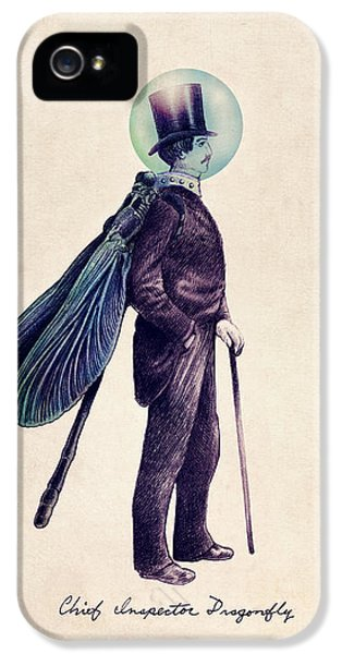 iPhone 5 Case - Inspector Dragonfly by Eric Fan