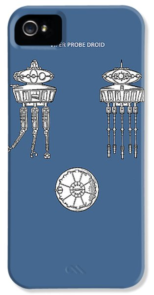 Star Wars - Droid Patent IPhone 5 Case by Mark Rogan