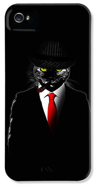 Mobster Cat IPhone 5 Case by Nicklas Gustafsson