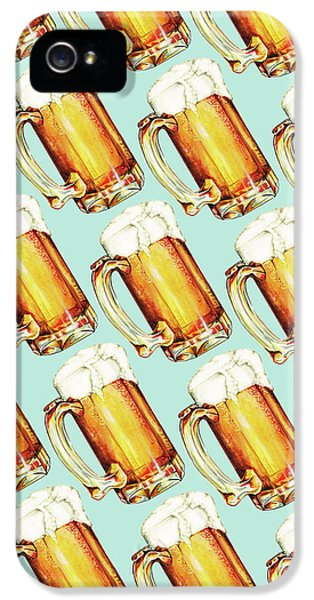 Beer Pattern IPhone 5 Case by Kelly Gilleran