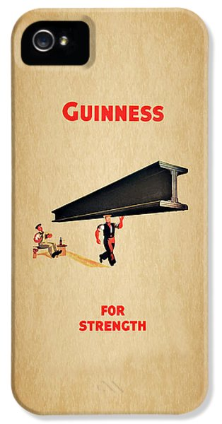 Guiness For Strength IPhone 5 Case by Mark Rogan