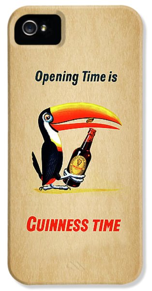 Opening Time Is Guinness Time IPhone 5 Case by Mark Rogan