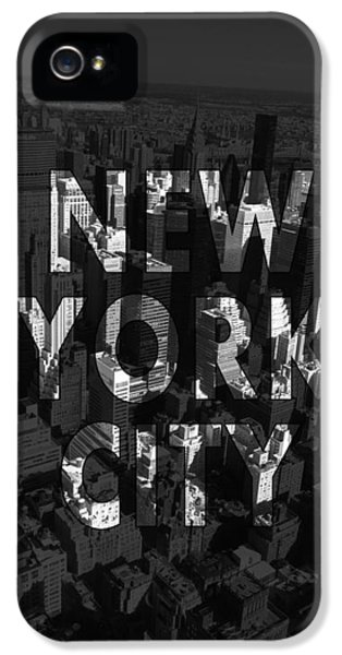 Office Buildings iPhone 5 Case - New York City - Black by Nicklas Gustafsson