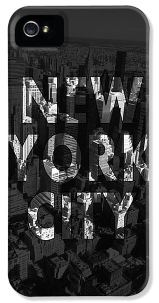 New York City - Black IPhone 5 Case