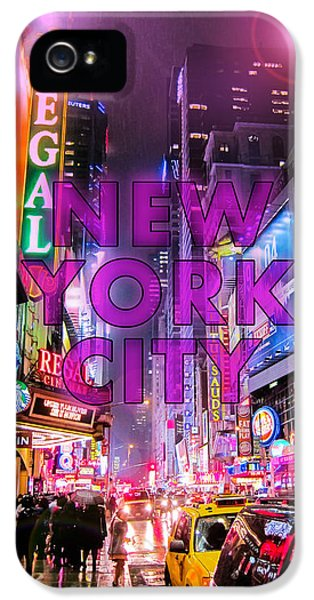 Broadway iPhone 5 Case - New York City - Color by Nicklas Gustafsson