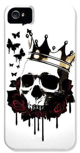 Rose iPhone 5 Case - El Rey De La Muerte by Nicklas Gustafsson