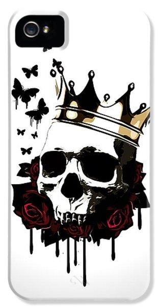 El Rey De La Muerte IPhone 5 Case by Nicklas Gustafsson
