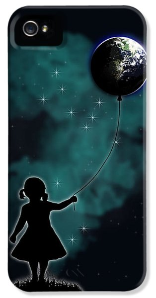 The Girl That Holds The World IPhone 5 / 5s Case by Nicklas Gustafsson