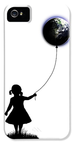 The Girl That Holds The World - White  IPhone 5 / 5s Case by Nicklas Gustafsson