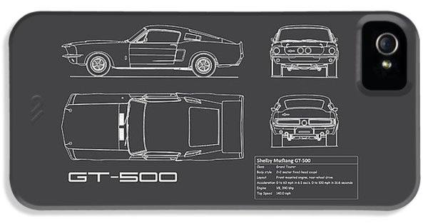 Shelby Mustang Gt500 Blueprint IPhone 5 Case