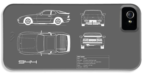 Porsche 944 Blueprint IPhone 5 Case