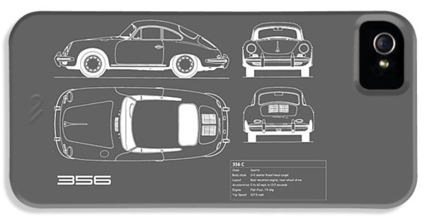 Porsche 356 C Blueprint IPhone 5 Case