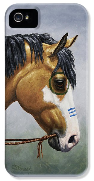 Buckskin Native American War Horse IPhone 5 Case by Crista Forest