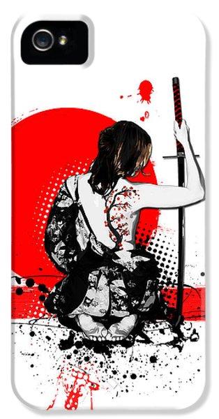 Trash Polka - Female Samurai IPhone 5 Case by Nicklas Gustafsson
