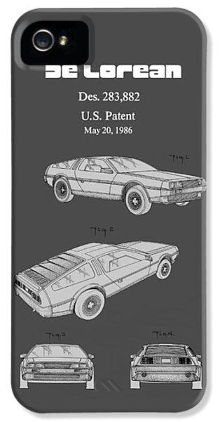De Lorean Patent 1986 IPhone 5 Case