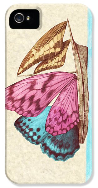 Insect iPhone 5 Case - Butterfly Ship by Eric Fan