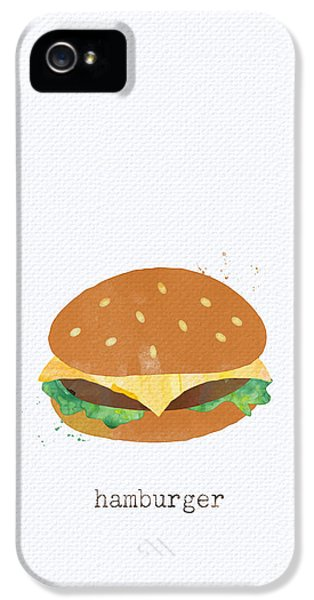 Hamburger IPhone 5 / 5s Case by Linda Woods