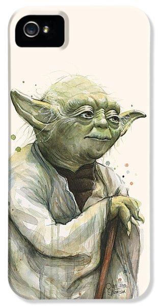 Yoda Portrait IPhone 5 Case by Olga Shvartsur