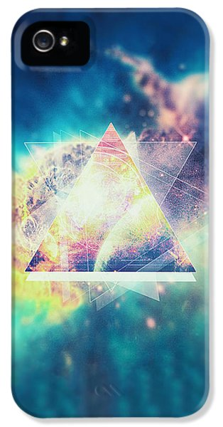 Awsome Collosal Deep Space Triangle Art Sign IPhone 5 Case