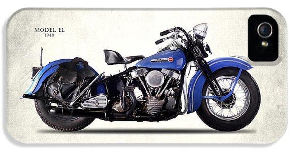 Harley-davidson El 1948 IPhone 5 Case by Mark Rogan