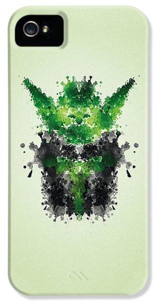 Rorschach Yoda IPhone 5 Case by Philipp Rietz