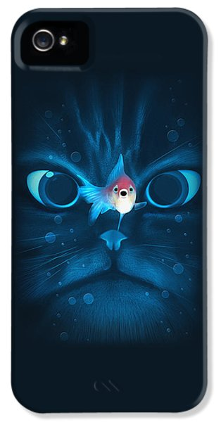 Cat Fish IPhone 5 Case by Nicholas Ely