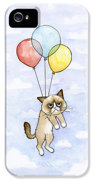 Grumpy Cat And Balloons IPhone 5 Case