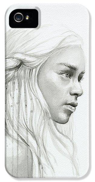 Dragon iPhone 5 Case - Daenerys Mother Of Dragons by Olga Shvartsur