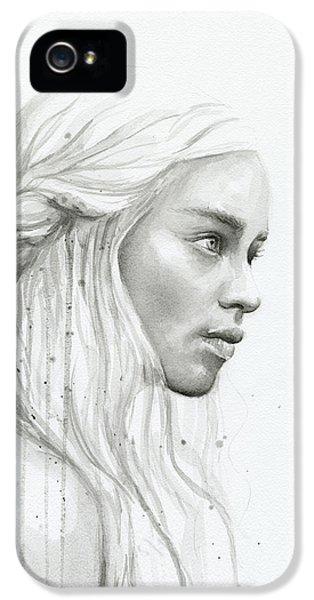 Daenerys Watercolor Portrait IPhone 5 Case