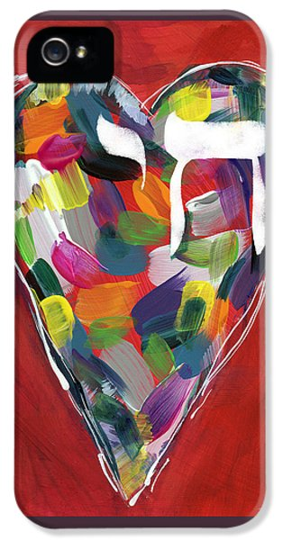 Life Is Colorful - Art By Linda Woods IPhone 5 Case by Linda Woods