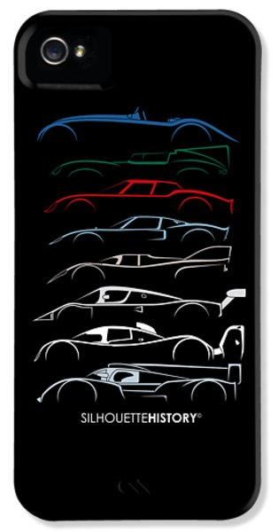 24 Hours Race Cars Silhouettehistory IPhone 5 Case by Gabor Vida