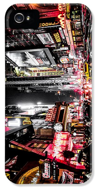 Times Square iPhone 5 Case - New York City Night II by Nicklas Gustafsson