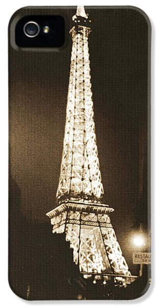 Postcard From Paris- Art By Linda Woods IPhone 5 Case by Linda Woods