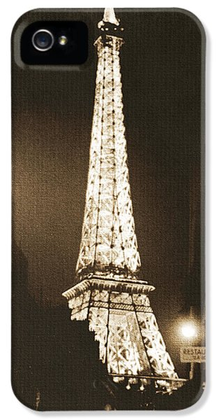 French iPhone 5 Case - Postcard From Paris- Art By Linda Woods by Linda Woods