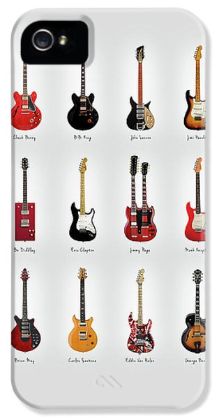 Rock And Roll iPhone 5 Case - Guitar Icons No1 by Mark Rogan