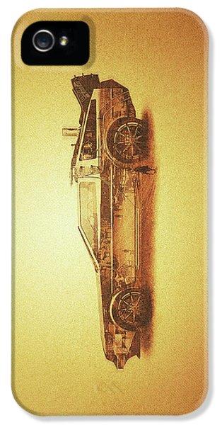 Lost In The Wild Wild West Golden Delorean Doubleexposure Art IPhone 5 Case