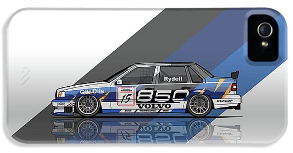 Volvo 850 Saloon Twr Btcc Racing Super Touring Car IPhone 5 Case by Monkey Crisis On Mars