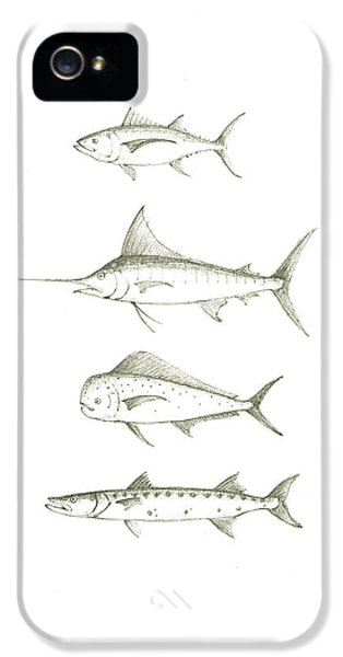 Saltwater Gamefishes IPhone 5 Case by Juan Bosco
