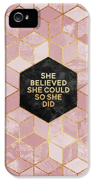 iPhone 5 Case - She Believed She Could by Elisabeth Fredriksson