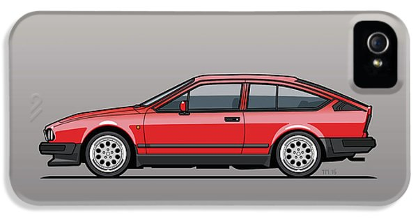Alfa Romeo Gtv6 Red IPhone 5 Case by Monkey Crisis On Mars