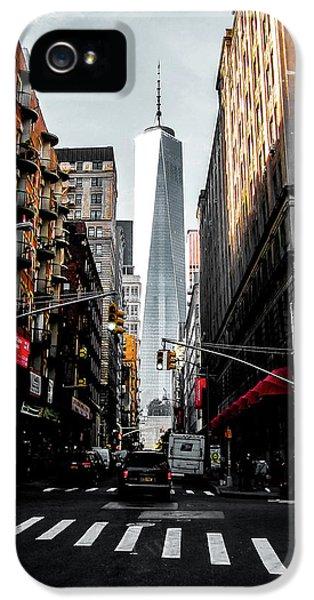 Broadway iPhone 5 Case - Lower Manhattan One Wtc by Nicklas Gustafsson
