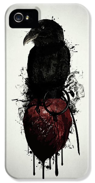 Raven And Heart Grenade IPhone 5 Case by Nicklas Gustafsson